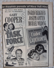 Task Force / Under Capricorn (1949) - Ingrid Bergman - Vintage Trade Ad